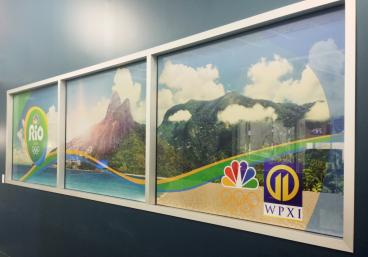 2016 Rio Olympic Window Graphics at WPXI