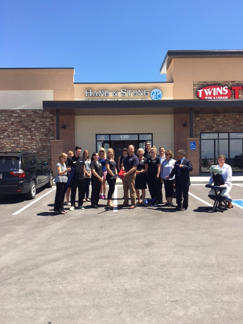 Hand & Stone Ribbon cutting with the Tri-Lakes Chamber of Commerce