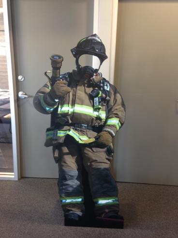 Lifesize Firefighter Cutout