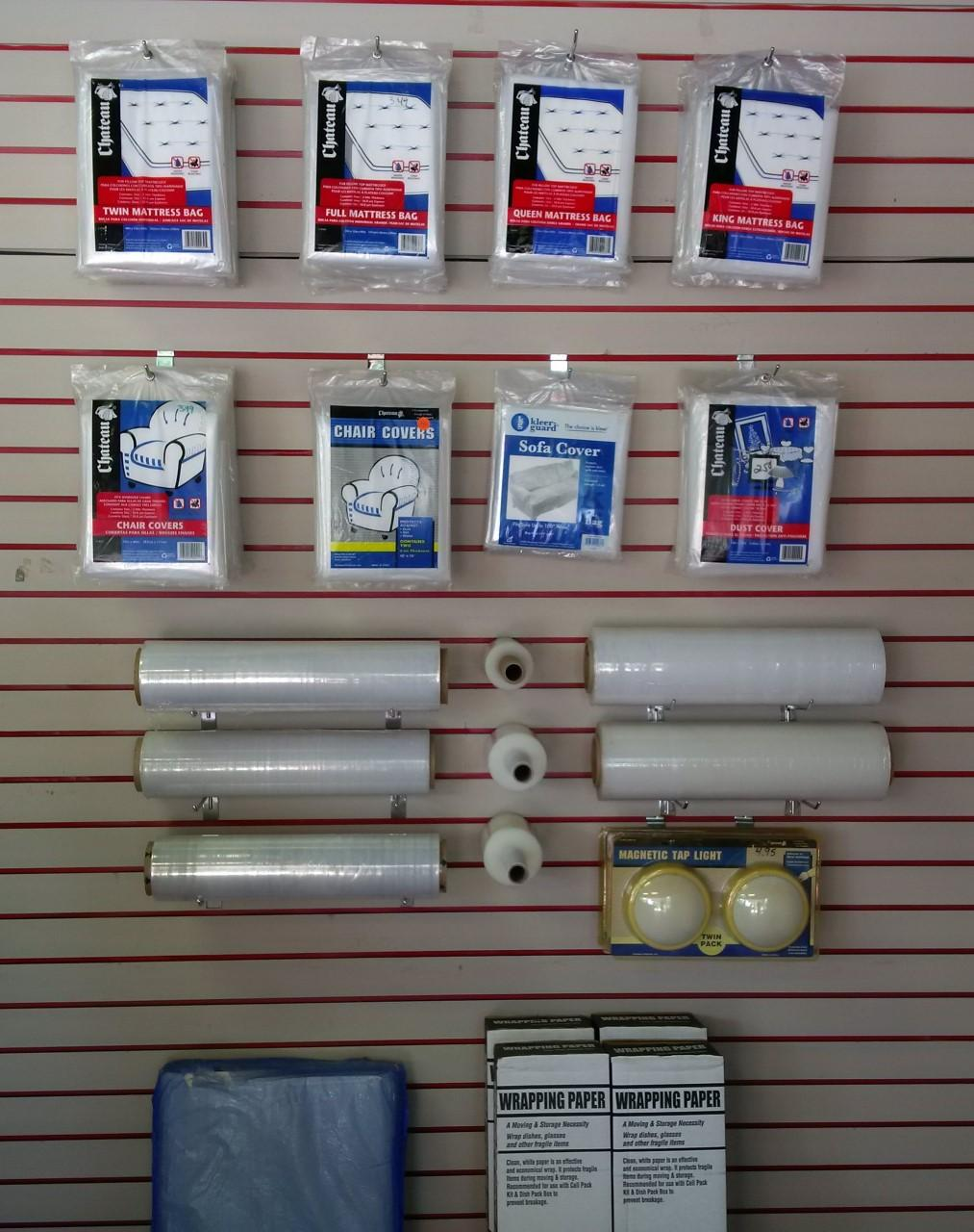 Mattress Bags/Covers. Small & Large Shrink Wrap. Wrapping Paper.