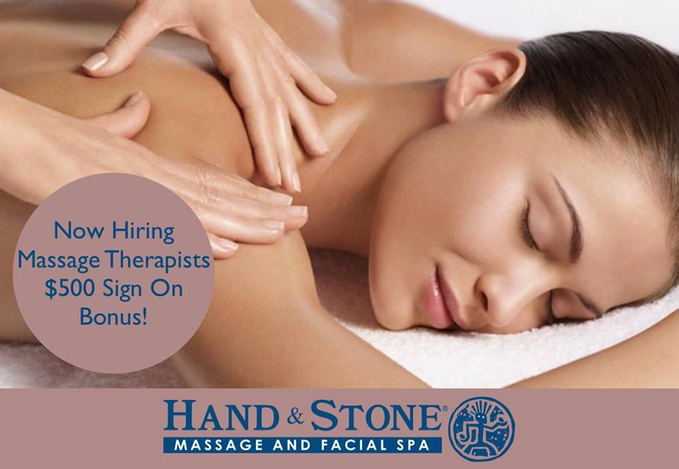 NOW HIRING MASSAGE THERAPISTS at Hand & Stone Massage and Facial Spa
