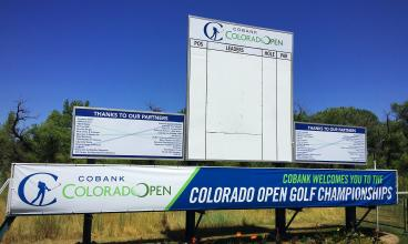 event graphics Denver, Colorado Open Golf Leaderboard Graphics!