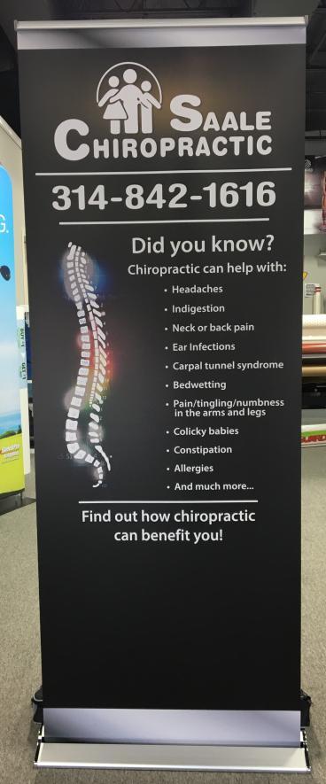 Retractable banner for Saale Chiropractic