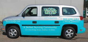 Partial Van Wrap for the Vivage Cottonwood location Denver, CO