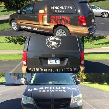Another beer themed van wrap for Blue Ridge Beverage!