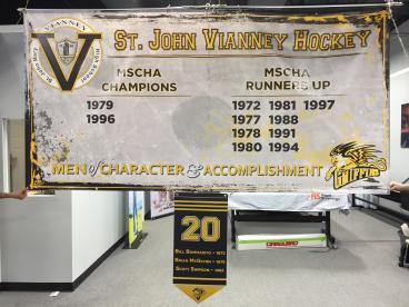 St. John Vianney Hockey Banner