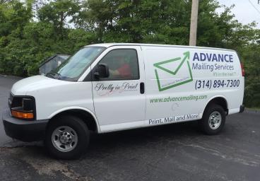 Advance Mailing Services Van Decals