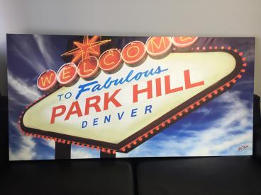 Canvas Print for Park Hill Elementary Denver, CO