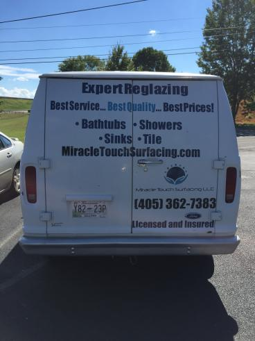 Van Decals for Miracle Touch Surfacing