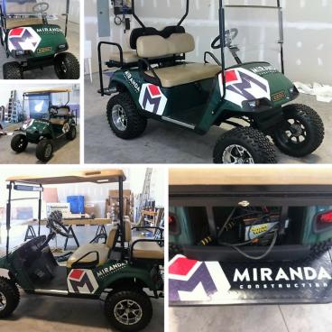 Miranda Construction Golf Cart Graphics