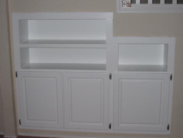 (After) Bookshelf. Wood work. Carpentry. Mansfield, TX