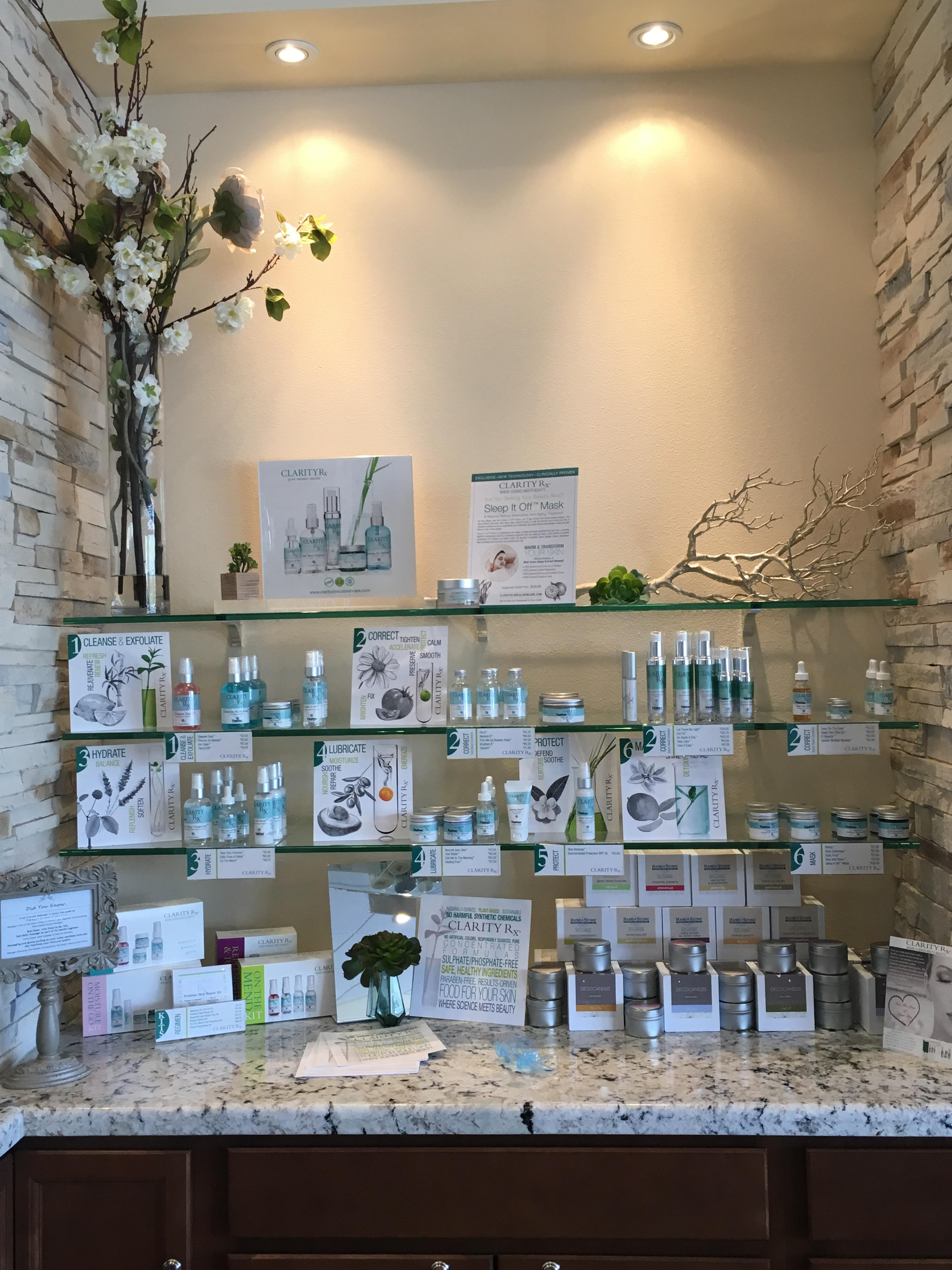 We offer an extensive array of high quality skin care products to help you look and feel your best.