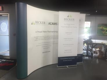 Trade Show Backdrop and Pop Ups - Becker Professional Education - Downers Grove, IL