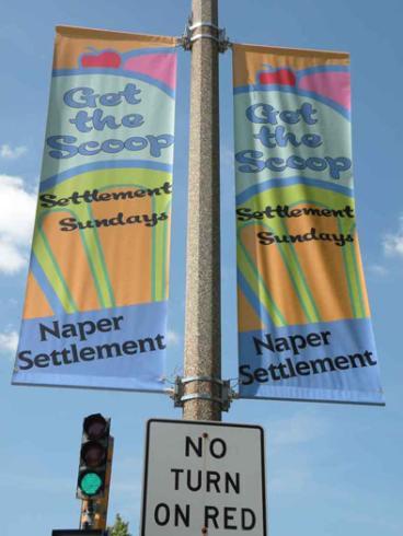 Pole Banners - Naper Settlement - Naperville