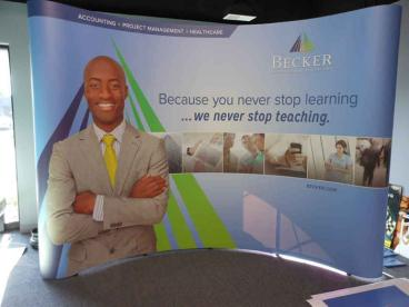 Trade Show Wrap-Around Display - Becker Professional Education