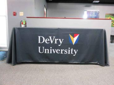 Table Throw with Logo - DeVry University - Downers Grove, IL