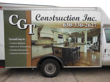 Truck Wrap - CGT Construction, Bolingbrook