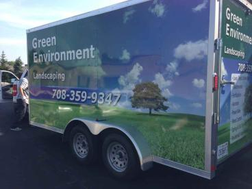 Trailer Wrap - Green Environment Landscaping