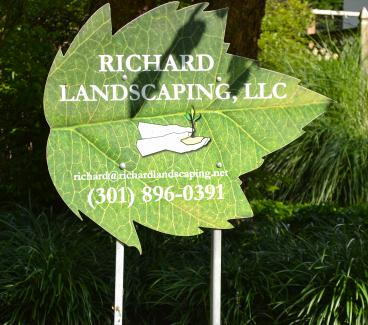 Metal Signs for Richard Landscaping