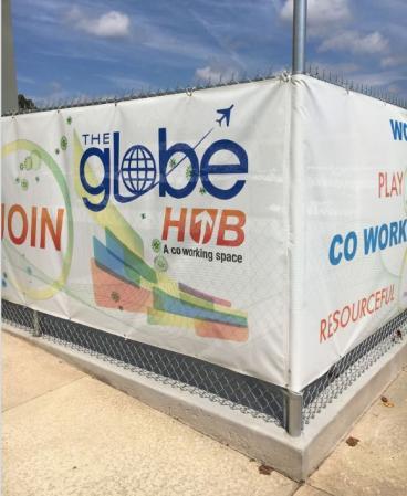 Globe Construction Banner