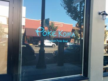 Poke Koma vinyl lettering Alameda