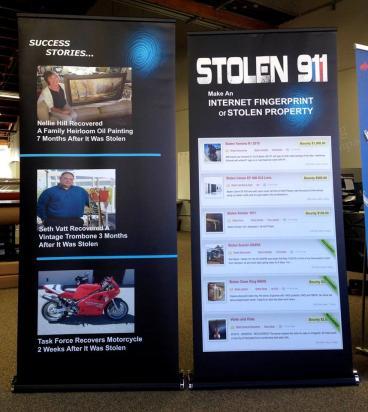 Stolen 911 tradeshow graphics