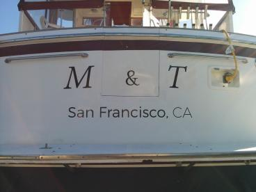 M & T boat lettering