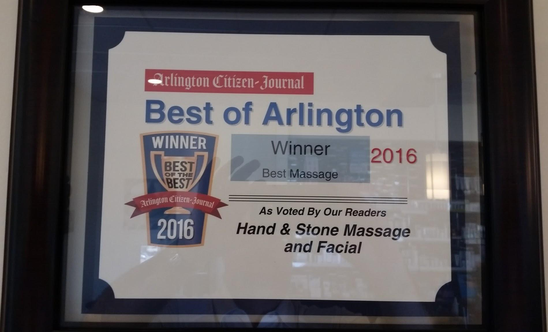Voted best of Arlington