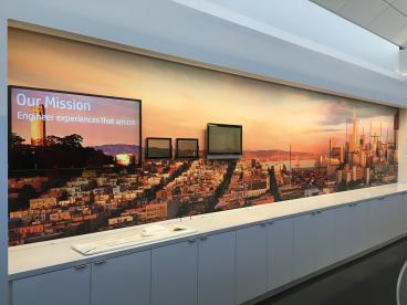 Wall Mural - HP Welcome Center - San Francisco Bay Area