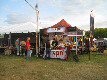 WXPN Event Tent and Table Throw