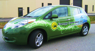 Full Vehicle Wrap Nissan Leaf