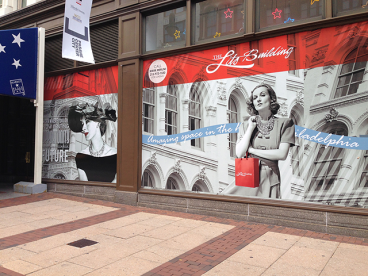Custom Window Graphics - Lits Building 6th and Market