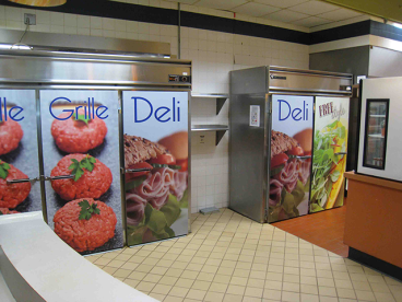 Refrigerator Door Wraps - Aramark at WCU