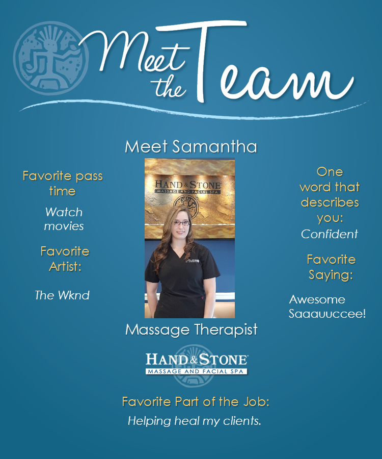 Meet Our Licensed Massage Therapist-Samantha (Sami) Prescher