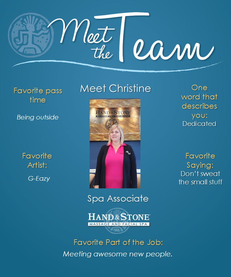 Meet Our Spa Associate & Future Massage Therapist-Christine Gokey
