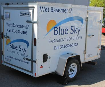 Blue Sky Basement Solutions Working Trailer wrap Denver, CO