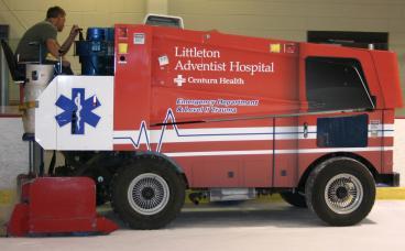 Littleton Adventist Hospital zamboni wrap Denver, CO