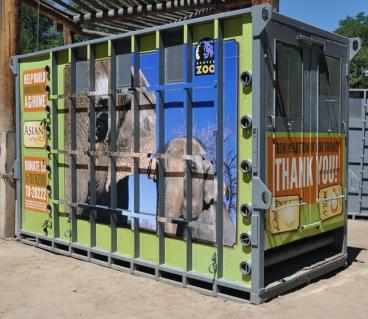 Denver Zoo Animal Transport Container wrap Denver, CO