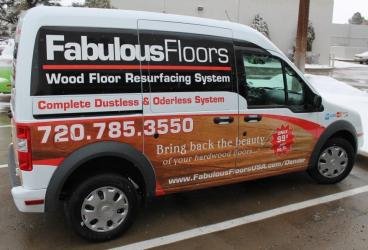 Fabulous Floors Mini-Van vehicle Wrap Denver, CO