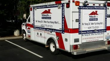Ambulance wrap for We Honey Do in Bothell
