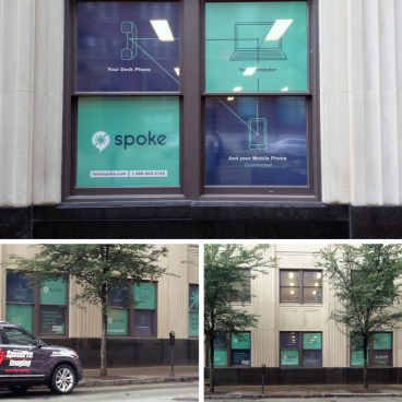 Perforated Window graphics.