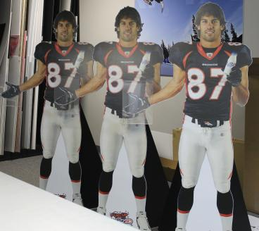 event graphics Denver, CO broncos cut-outs