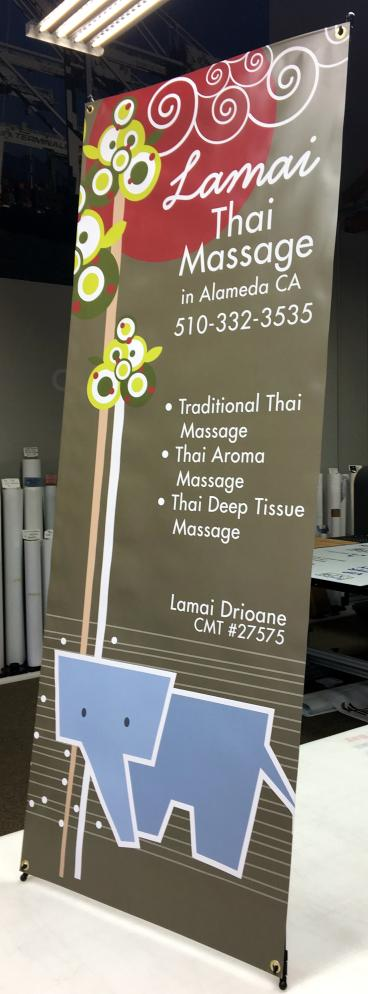 Lamai Thai banner stand