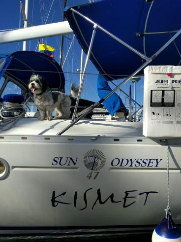 Kismet boat lettering