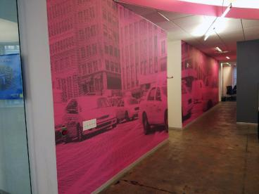 Wall Mural and wall graphics in New York City.