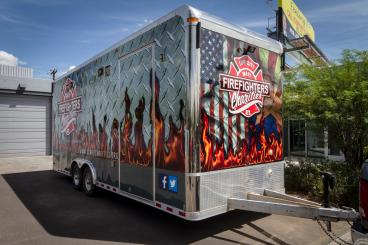 Printed Trailer Wrap for Food Truck