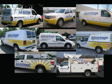 Advantage Building Facility Management Fleet Wraps