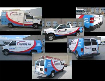 Timothy Off HVAC Fleet Wraps