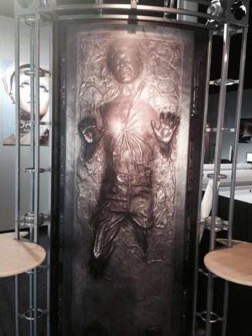 Han Solo in Carbonite display
