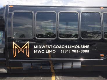 Van Decal - Midwest Coach Limousine - Naperville